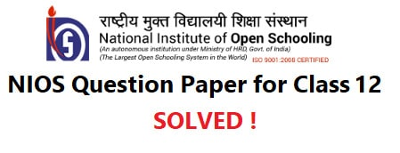 NIOS Class 12 Question Paper