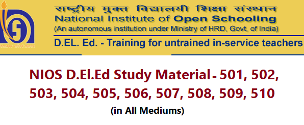 NIOS Dled Study Material