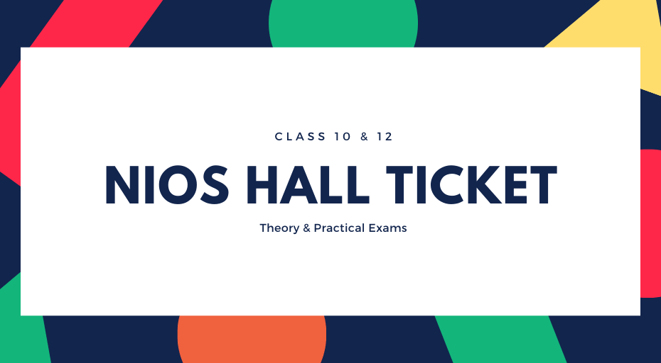 NIOS Hall Ticket Download