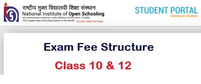 NIOS Examination Fee