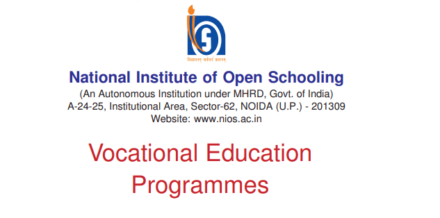 List of Vocational Courses in NIOS