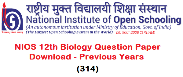 NIOS Biology Solved Question Paper
