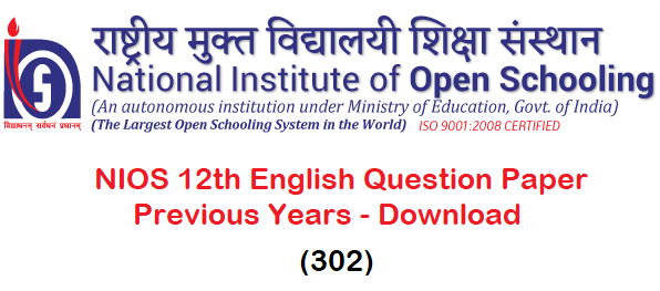 NIOS Class 12 Solved Question Paper