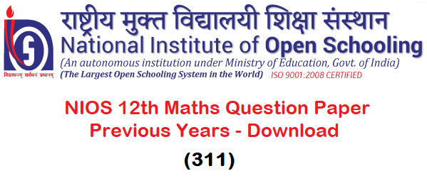 NIOS 12th Maths Question Paper